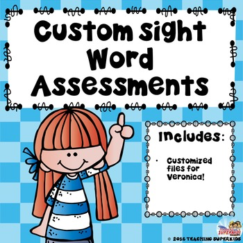 Custom Sight Word set