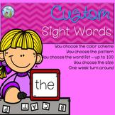 Custom Sight Words!