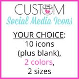 Custom Social Media Icons | Blog and Store Branding | 44 Graphics