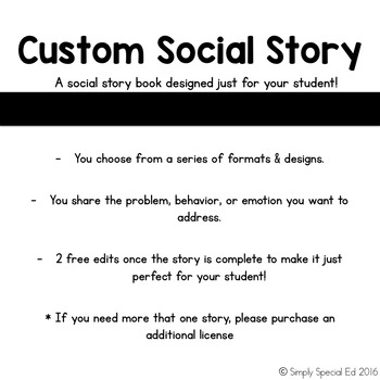 Custom Social Story