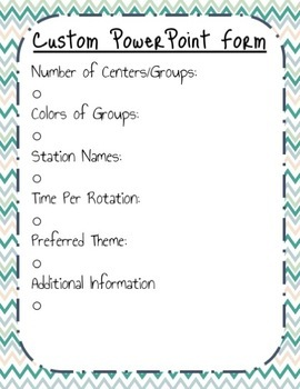 Custom Station Rotation PowerPoint Request Form