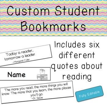 Custom Student Bookmarks