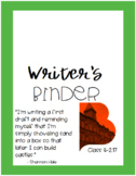 Custom Student Writer's Binder Cover and Labels