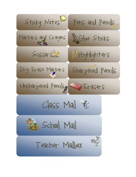 Custom Supplies and Writing Station and Mailbox Labels