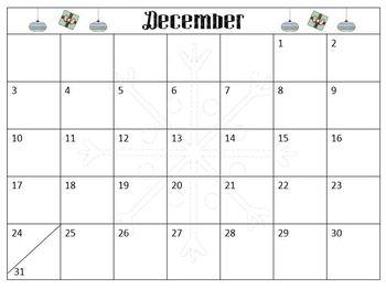December Calendar Freebie