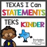 Custom TEKS Kindergarten