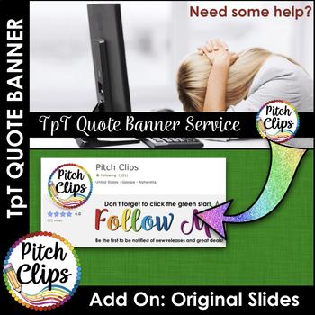 Custom TPT Quote GIF Banner - ADD-ON: Original Design Slides
