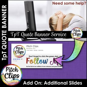 Custom TPT Quote GIF Banner - ADD-ON: 1 Additional Slide