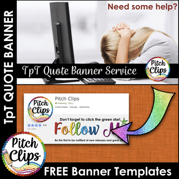 Custom TPT Quote GIF Banner - FREE Keynote and PowerPoint Template