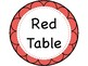 Custom Table Signs (Green, Red, Blue, Yellow)