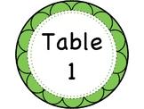 Custom Table Signs (Tables 1-8)