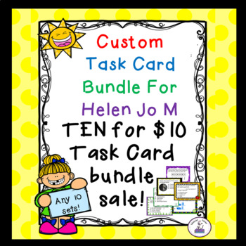 Custom Task Card Bundle 1 for HelenJoM