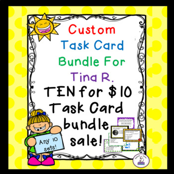 Custom Task Card Bundle for Tina R