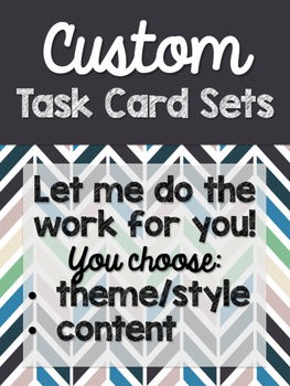 Custom Task Card Sets