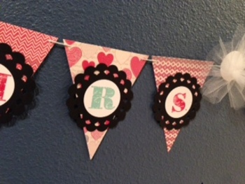 """Custom Teacher Name Banner, Perfect for a gift or your own class, 4x5"""" pennants"""