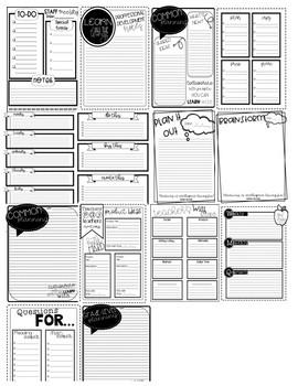 Custom Teacher Planner Lists