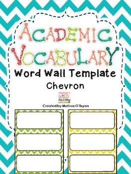 Custom Template Vocabulary Word Wall - Chevron