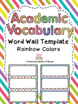 Custom Template Vocabulary Word Wall - Rainbow