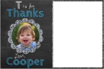 Thank You Notes, Custom Order {Alphabet Chalkboard}