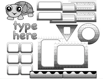 Editable Custom Theme Decor Set  SCALES