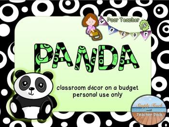Editable Custom Theme Set  PANDA