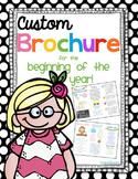 Custom Themed Brochure for Back to School
