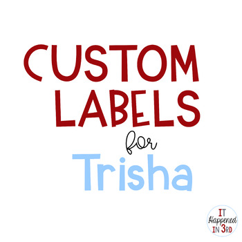 Custom Toolbox Labels for Trisha
