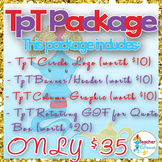 Custom TpT Package - Logo - Banner - Rotating GIF - Column Graphic