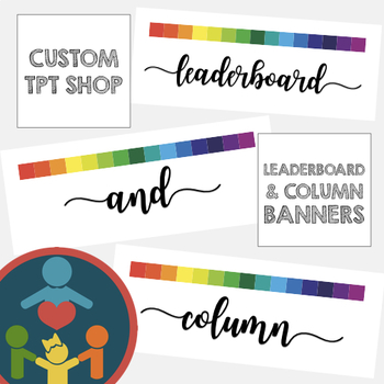 Custom TpT Shop Banners   Leaderboard and Column Banner