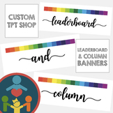 Custom TpT Shop Banners | Leaderboard and Column Banner :