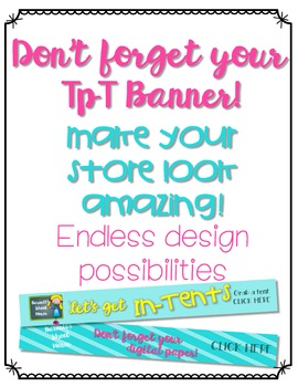 Custom TpT Seller store banner {Endless design Possibilities}