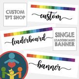Custom TpT Shop Banners | Leaderboard Banner