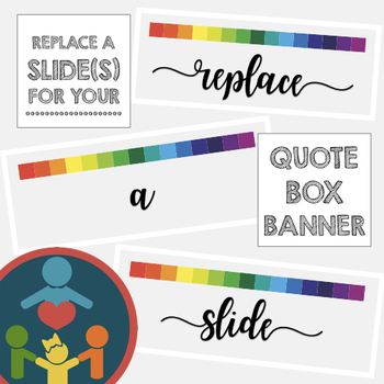 Custom TpT Shop : Quote Box Banner Replace a Slide