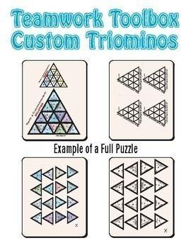 Custom Triominos Puzzle ~Any Subject~