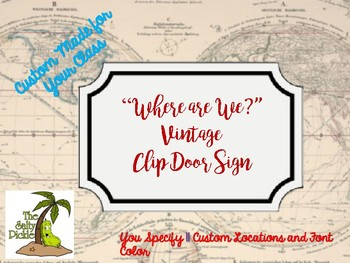 """Custom Vintage """"Where Are We Sign"""""""