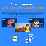 Custom Virtual Backgrounds in Zoom or Teams using Google Slides