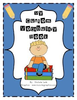 Custom Vocabulary Book