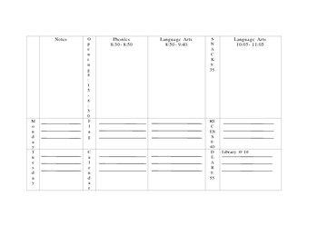 Custom Weekly Planner