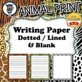 Custom Writing Paper  - Animal Print - ZisforZebra