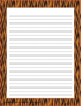 Custom Writing Paper  - Animal Print - ZisforZebra