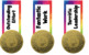 Custom bookmarks, awards, label - Commonwealth Games 2018  - Gold Medal