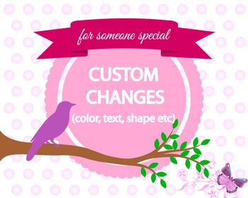 Custom changes -for someone special- Special changes