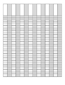 Custom grade book template with 32 rows