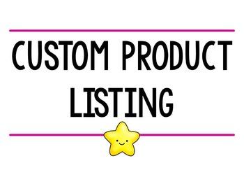 Custom product listing for M. MacDougall