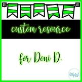 Custom resource for Doni D.