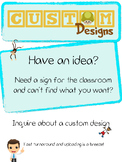 Custom sign design