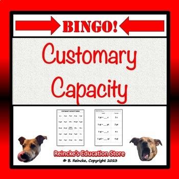 Customary Capacity Bingo (30 pre-made cards!)