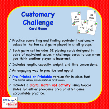 Customary Challenge Card Game