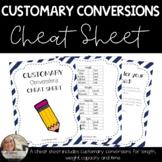 Customary Conversion Cheat Sheet