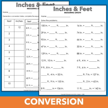 Customary Conversion - Finding Measurement Equivalents Using Two-Column Tables
